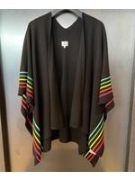Sundry Sundry Rainbow Stripes Poncho