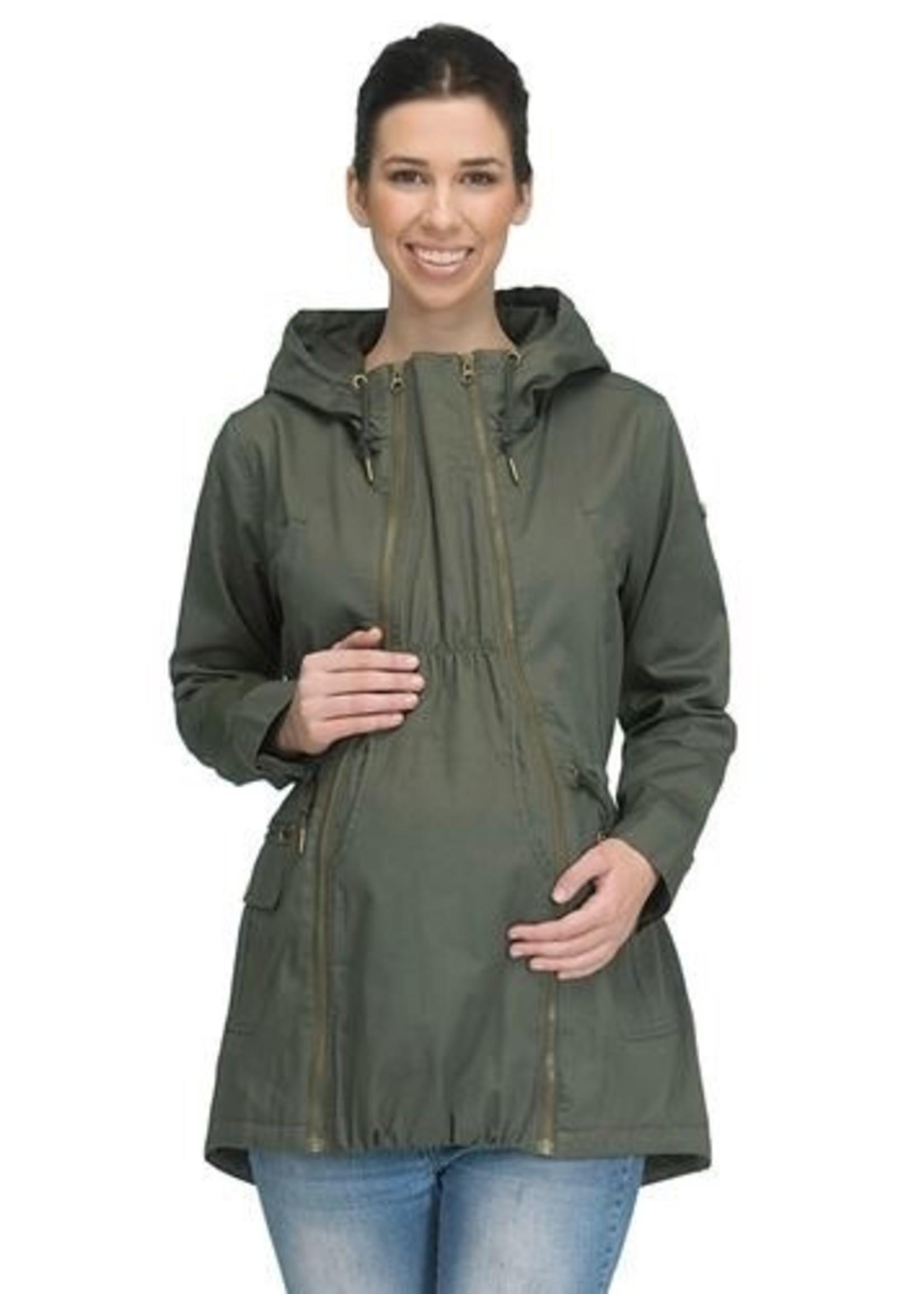 Modern Eternity Modern Eternity, Lara Military Style 3-In-1 Maternity Coat