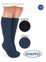 Jefferies Socks Jefferies Sock, Seamless Big Hug Knee High 2 PK