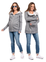 Seraphine Seraphine, Connor: 3-In-1 Active Hoodie in Grey