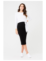 Ripe Maternity Ripe, Ribbed Knit Maternity Pencil Skirt in Black