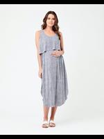 Ripe Maternity RIpe Maternity, Indigo & White Stella Stripe Nursing Dress