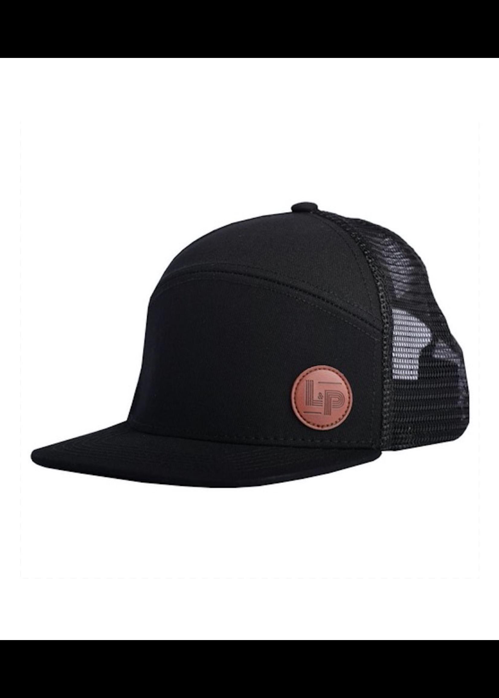 L&P Apparel L&P, All Black Orleans Snapback Trucker Cap