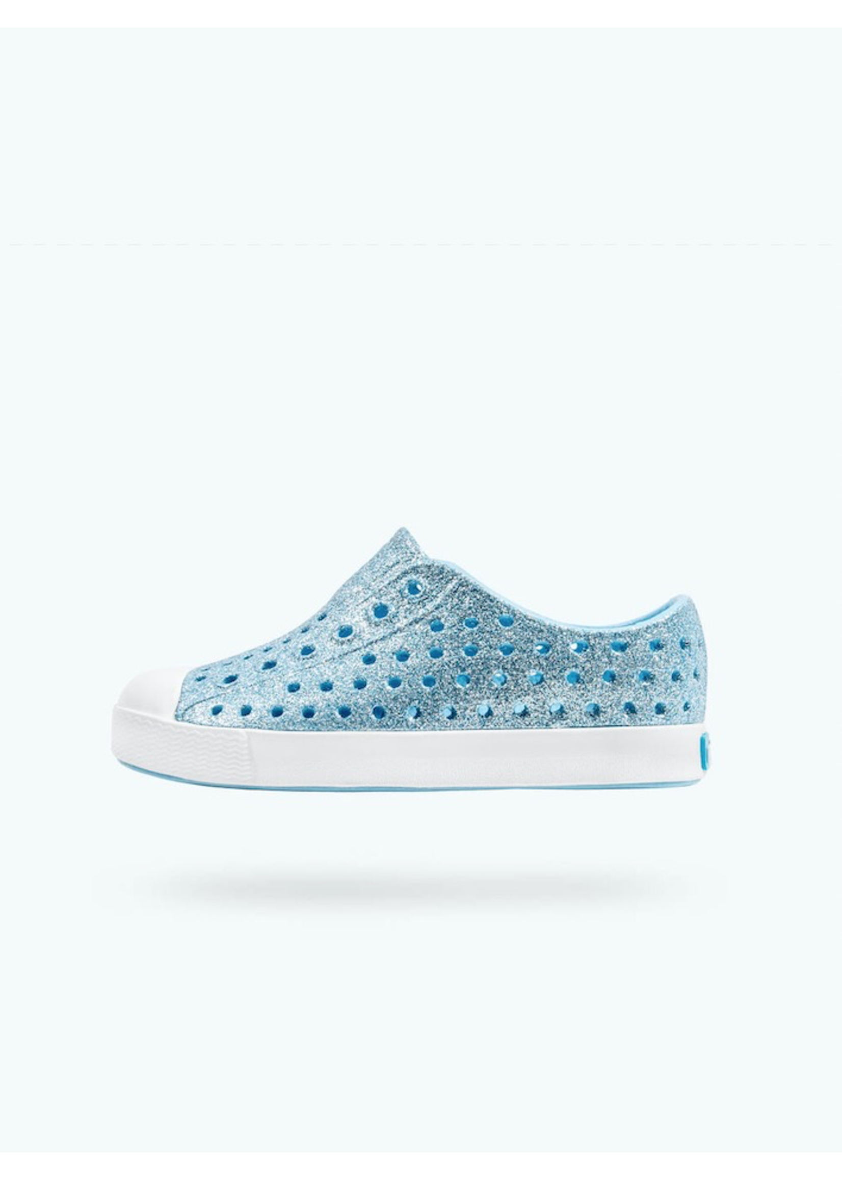 Native Shoes Native Shoes, Jefferson Bling Child in Light Sky Blue