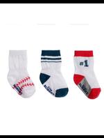 Robeez Robeez, Baseball Kick Proof Socks 3-Pack