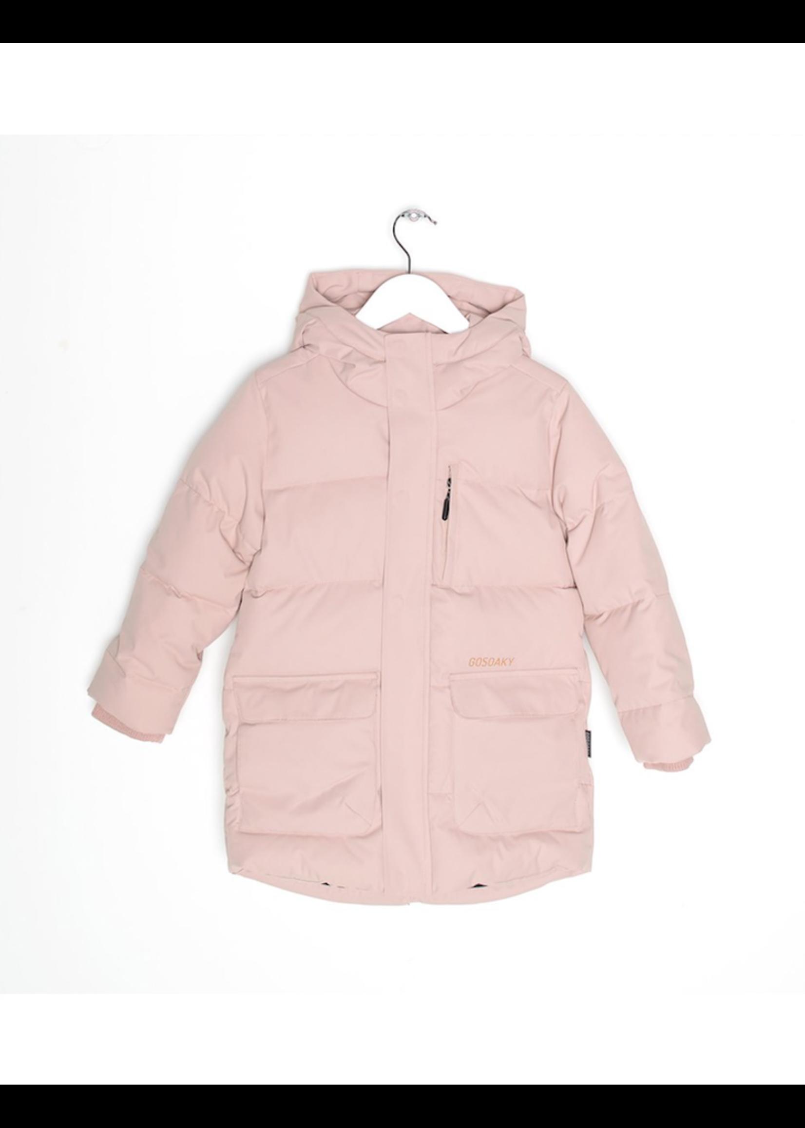 Go Soaky GoSoaky, Tiger Eye Puffer Jacket In Evening Pink