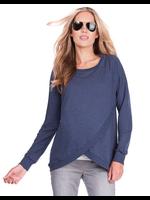 Seraphine Seraphine, Sybil, Crossover Maternity & Nursing Sweater In Blue Marl