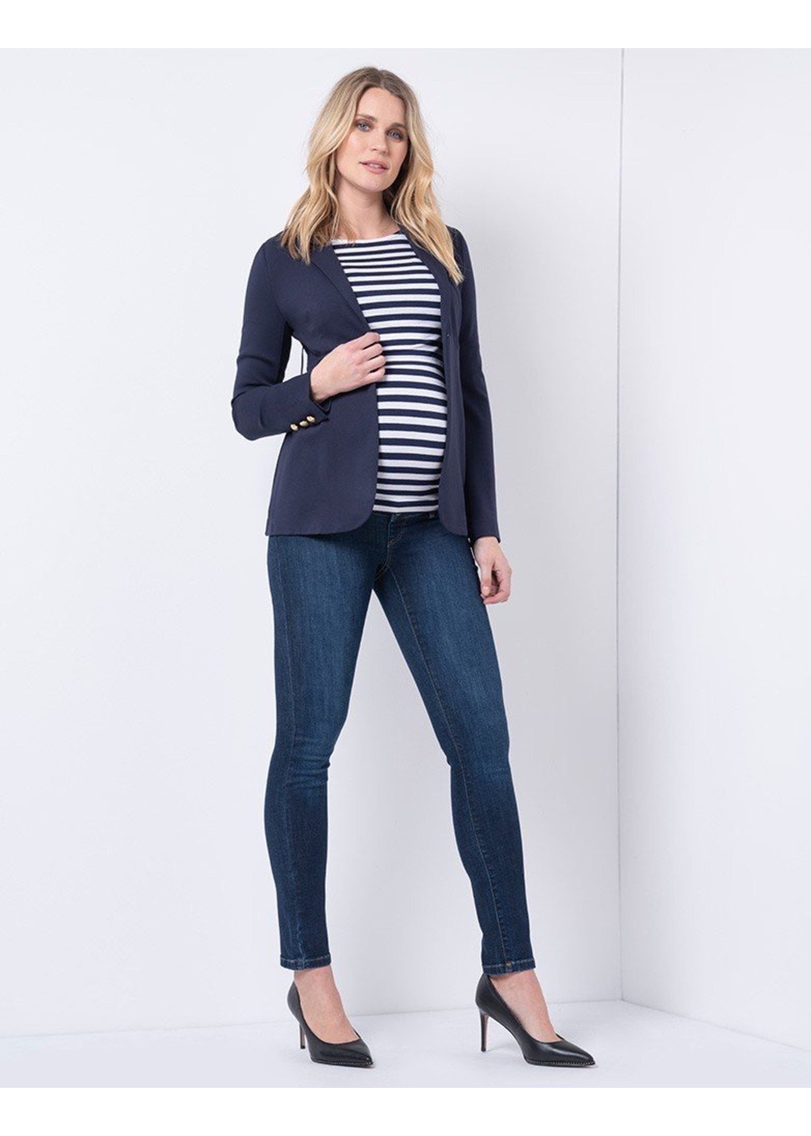 Seraphine Seraphine, Marcus, Organic Cotton Over Bump Maternity Dark Blue Jeans