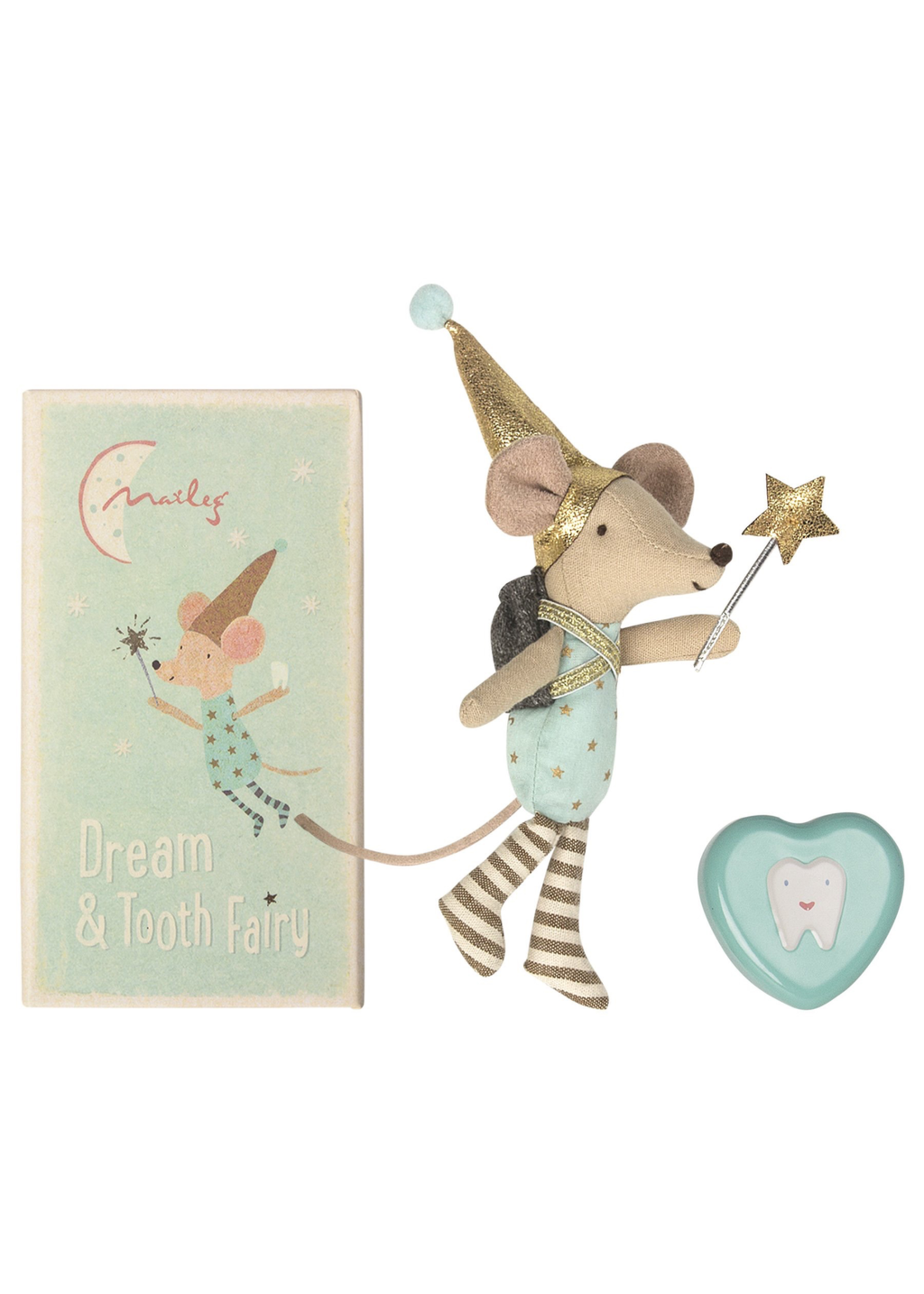 Maileg Maileg-Tooth Fairy, big brother mouse w. metal box