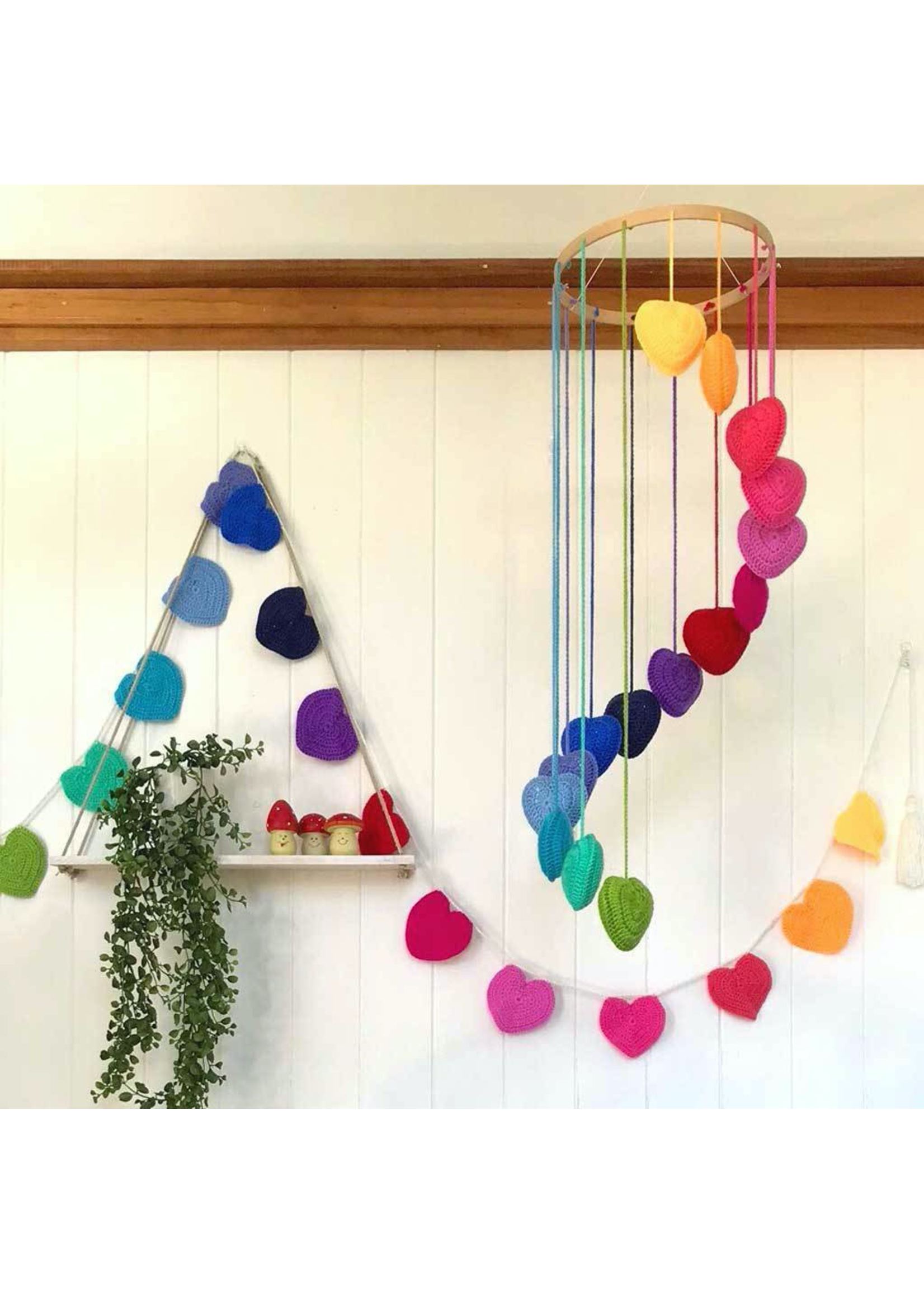 OB Designs OB Designs, Rainbow Crochet Heart Mobile