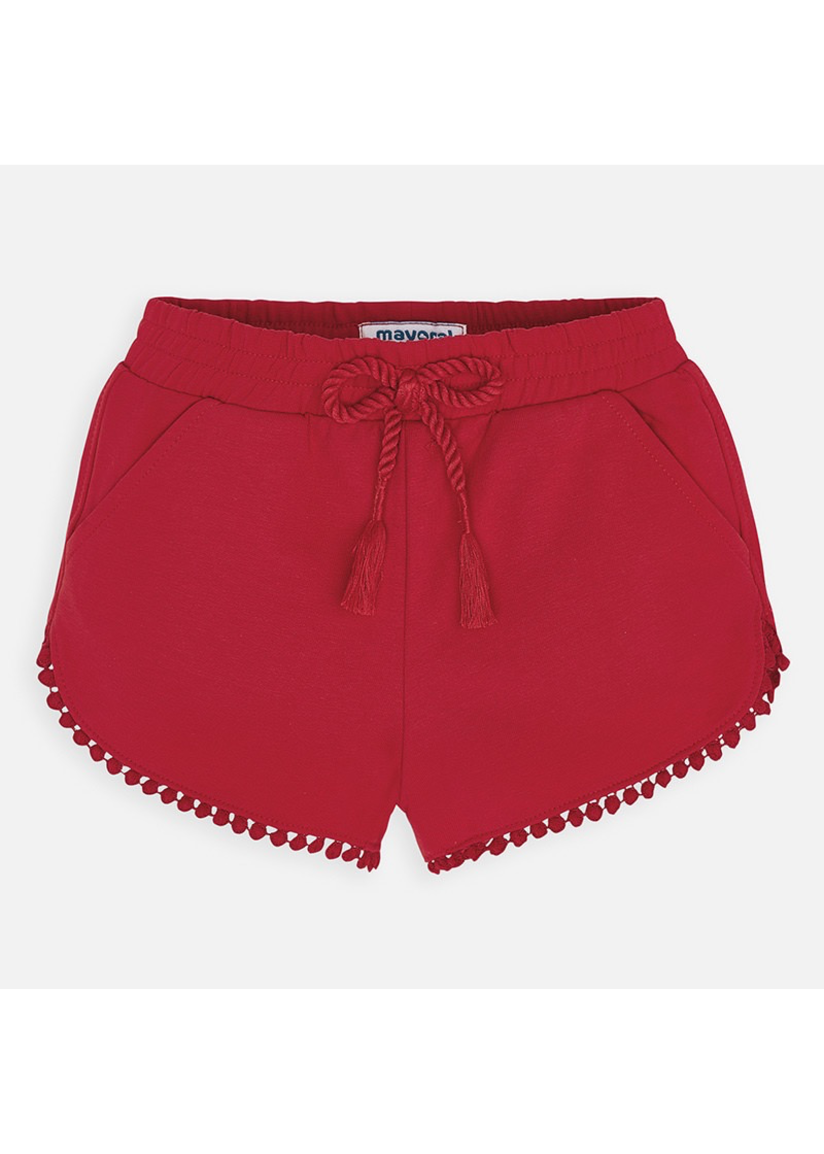 Mayoral Mayoral, Red Chenille Knit Shorts for Girls