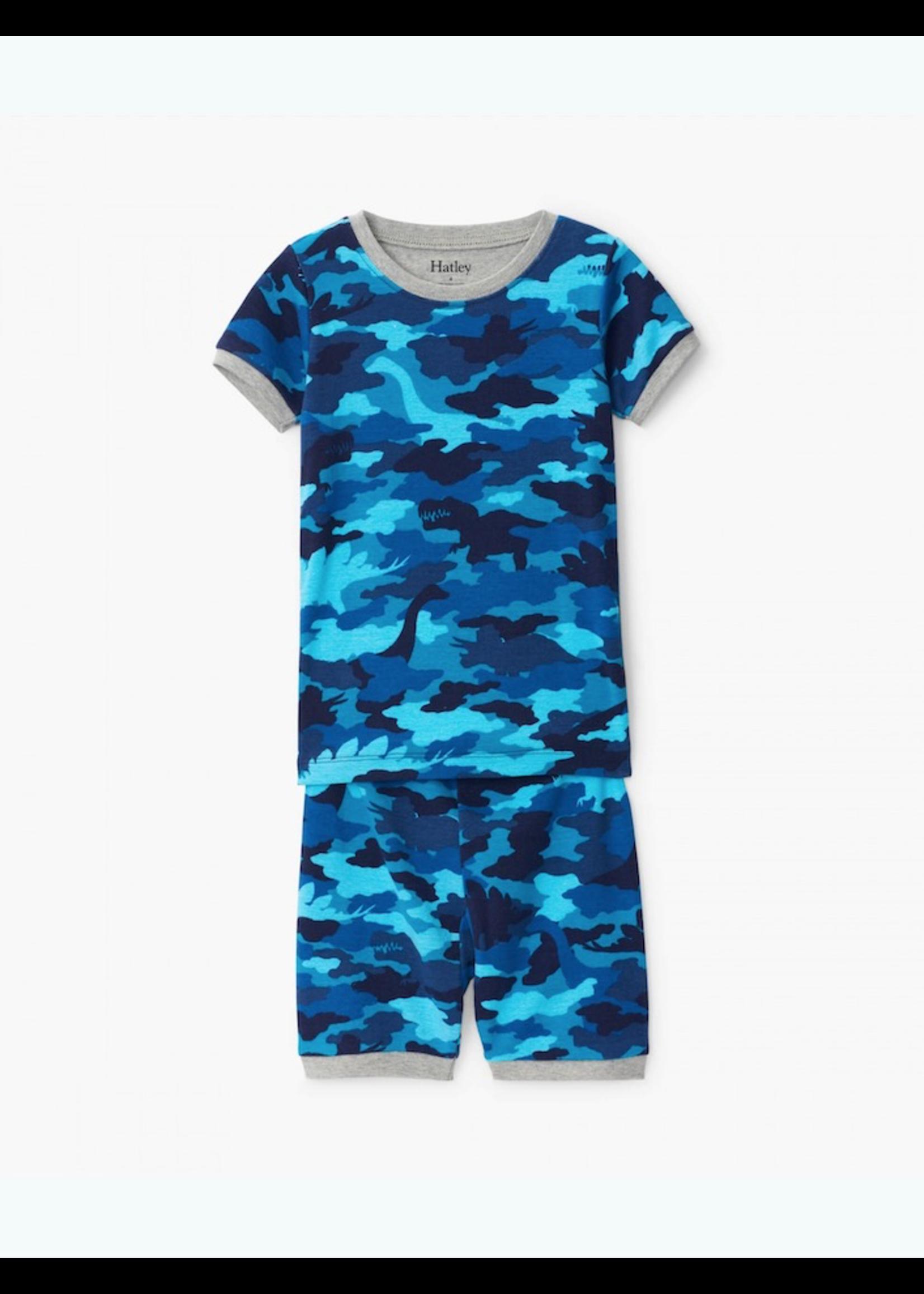 Hatley Hatley, Dino Camo Organic Cotton Short Pajama Set