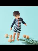 Tea Collection Tea Collection, Outrigger Stripe Rashguard One-piece for Baby Boy