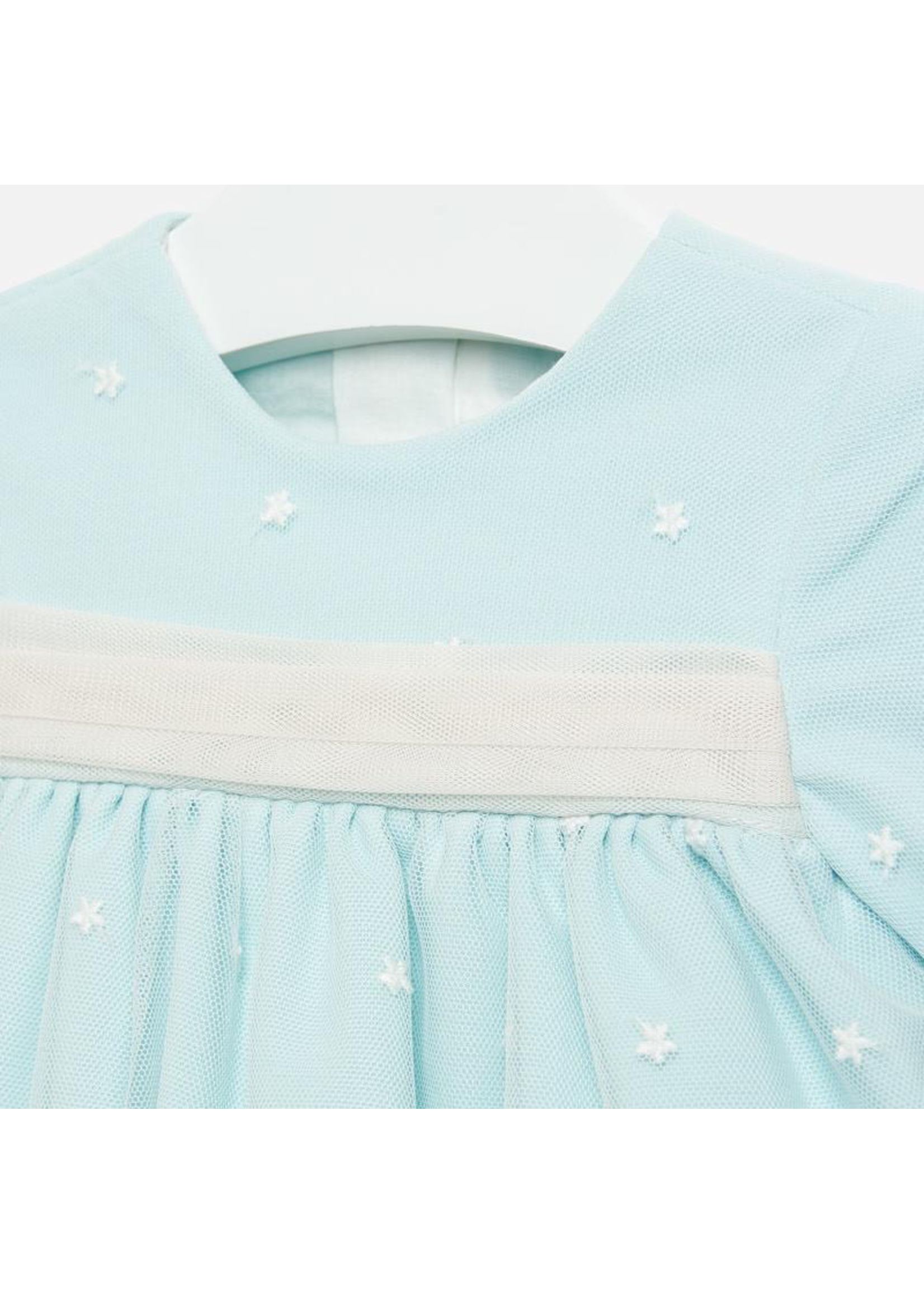 Mayoral Mayoral, Embroidered Tulle Dress for Baby Girl