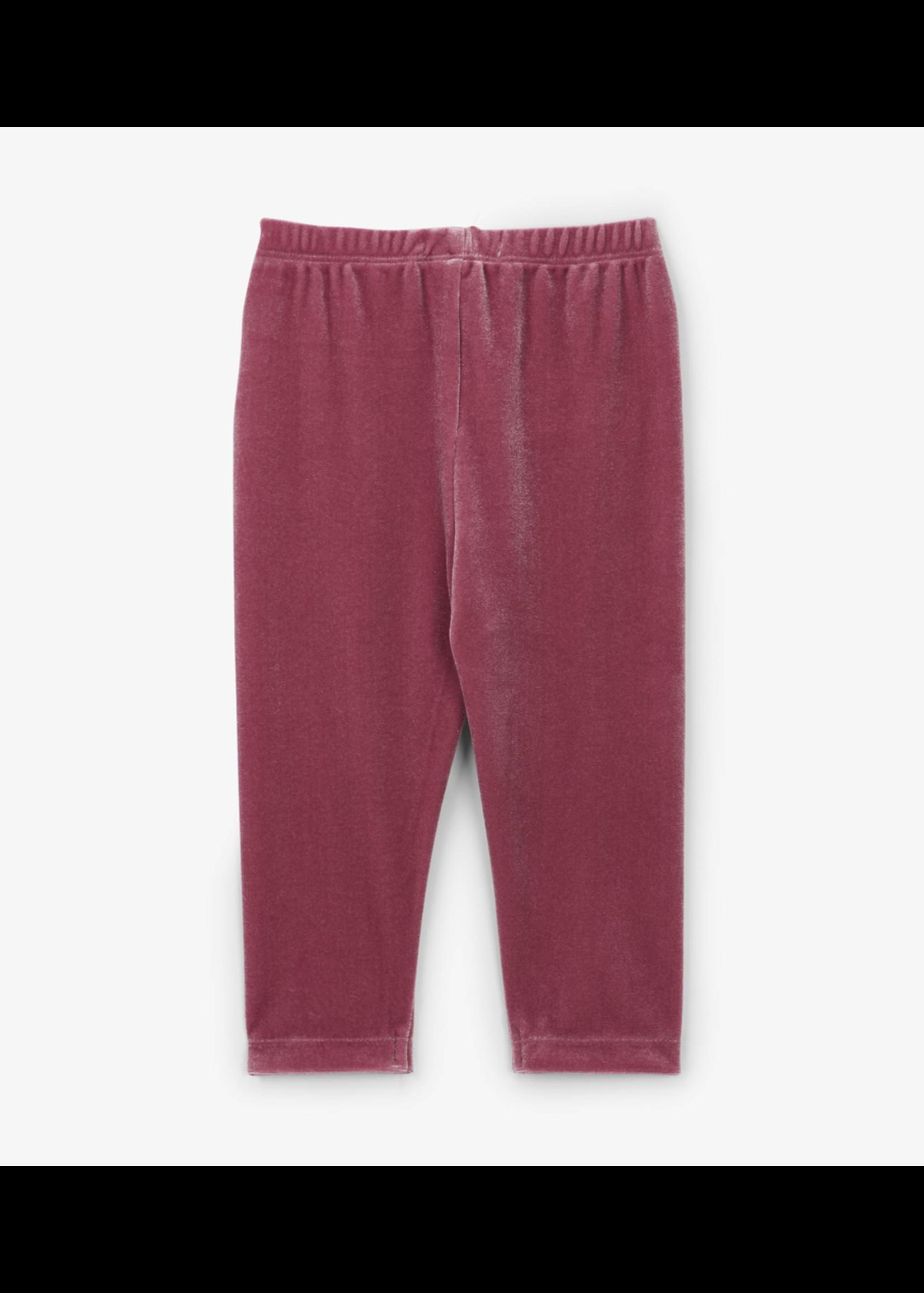 Hatley Hatley, Pink Velour Leggings for Baby Girl
