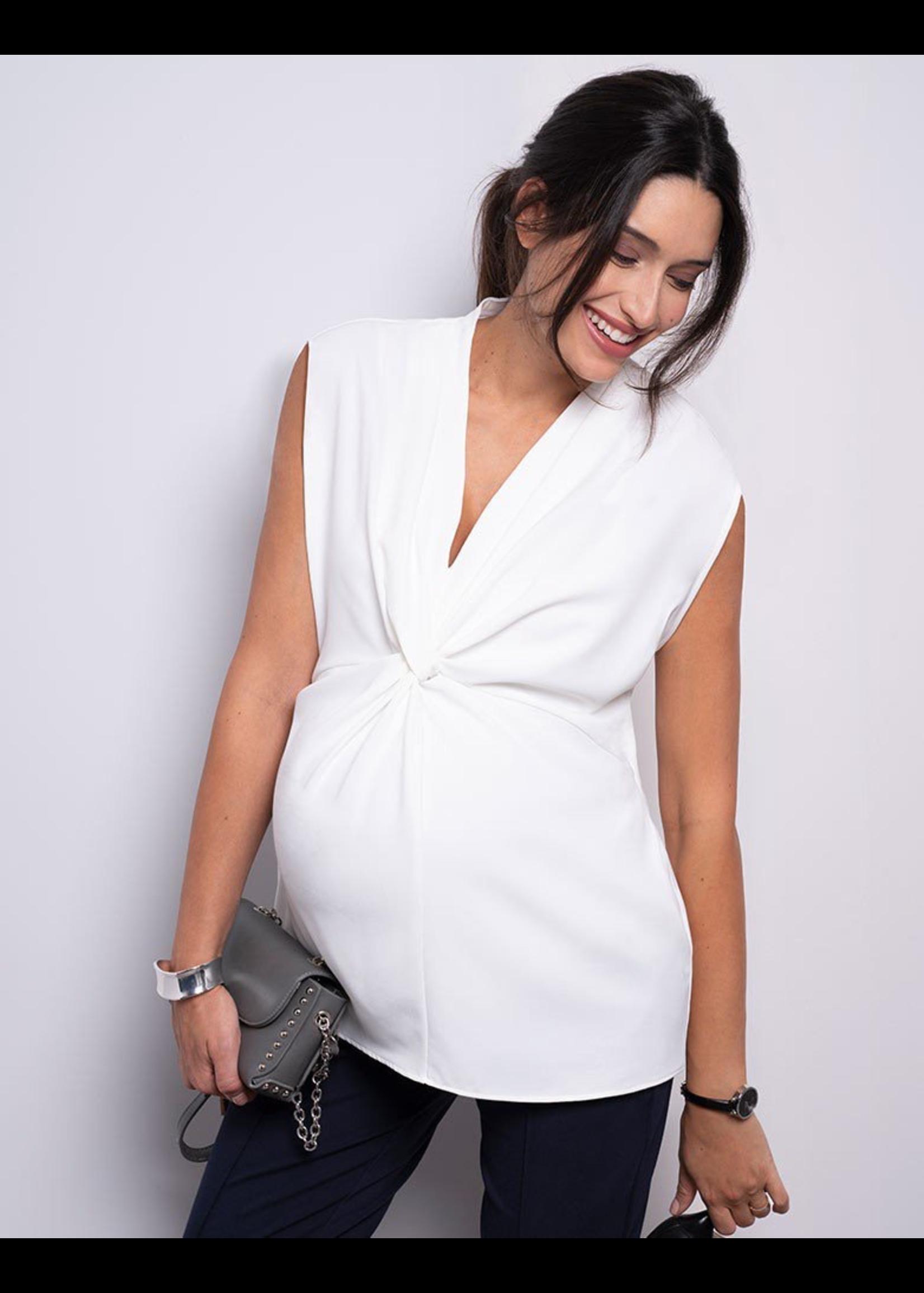 Seraphine Seraphine, Rylie Twist Short Sleeve Maternity Blouse