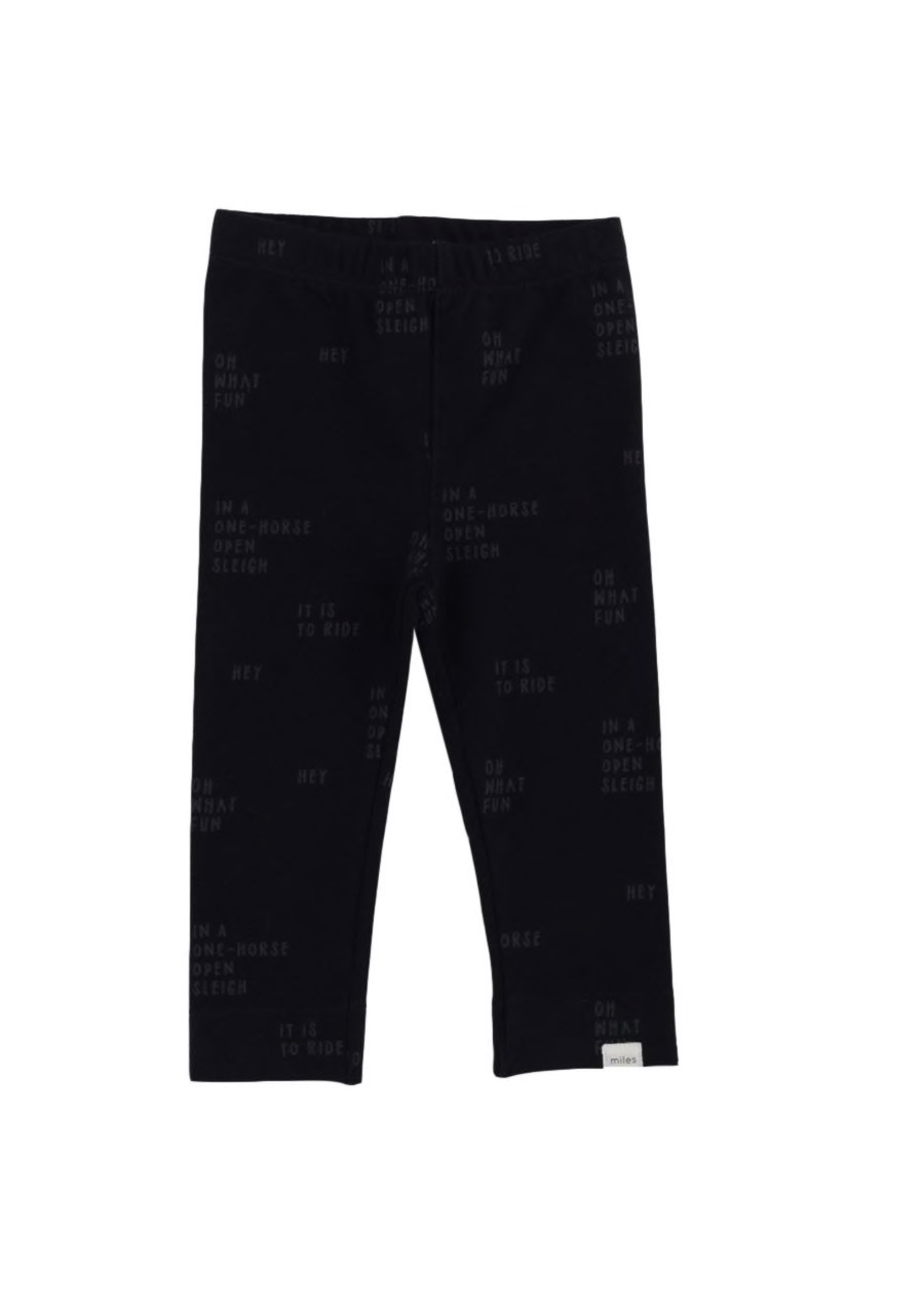 Miles Baby Miles Baby, Verbiage Knit Leggings for Girls