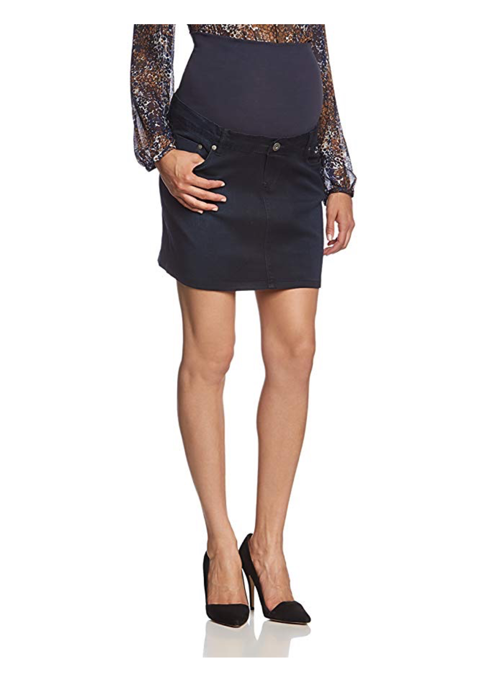Noppies Maternity Noppies Maternity, Ally Short Over the Bump Denim Skirt Otb