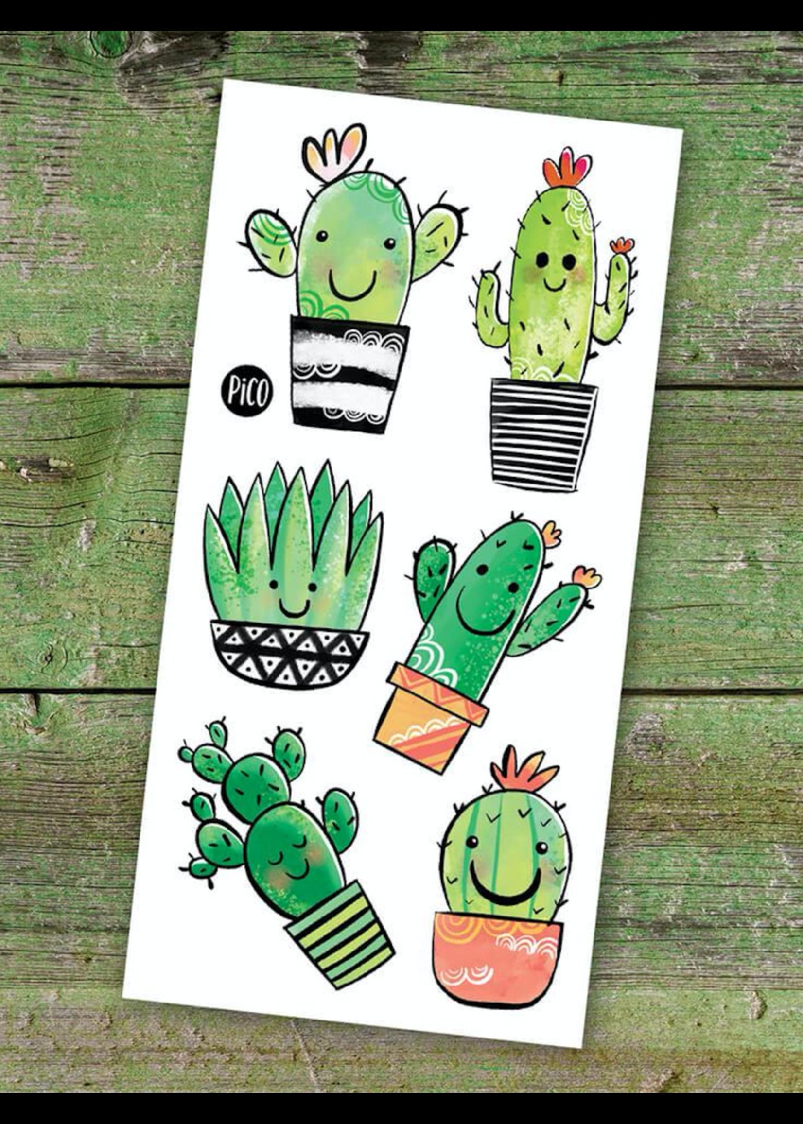PiCO Tatoo Pico Temporary Tattoos, Cute Cacti