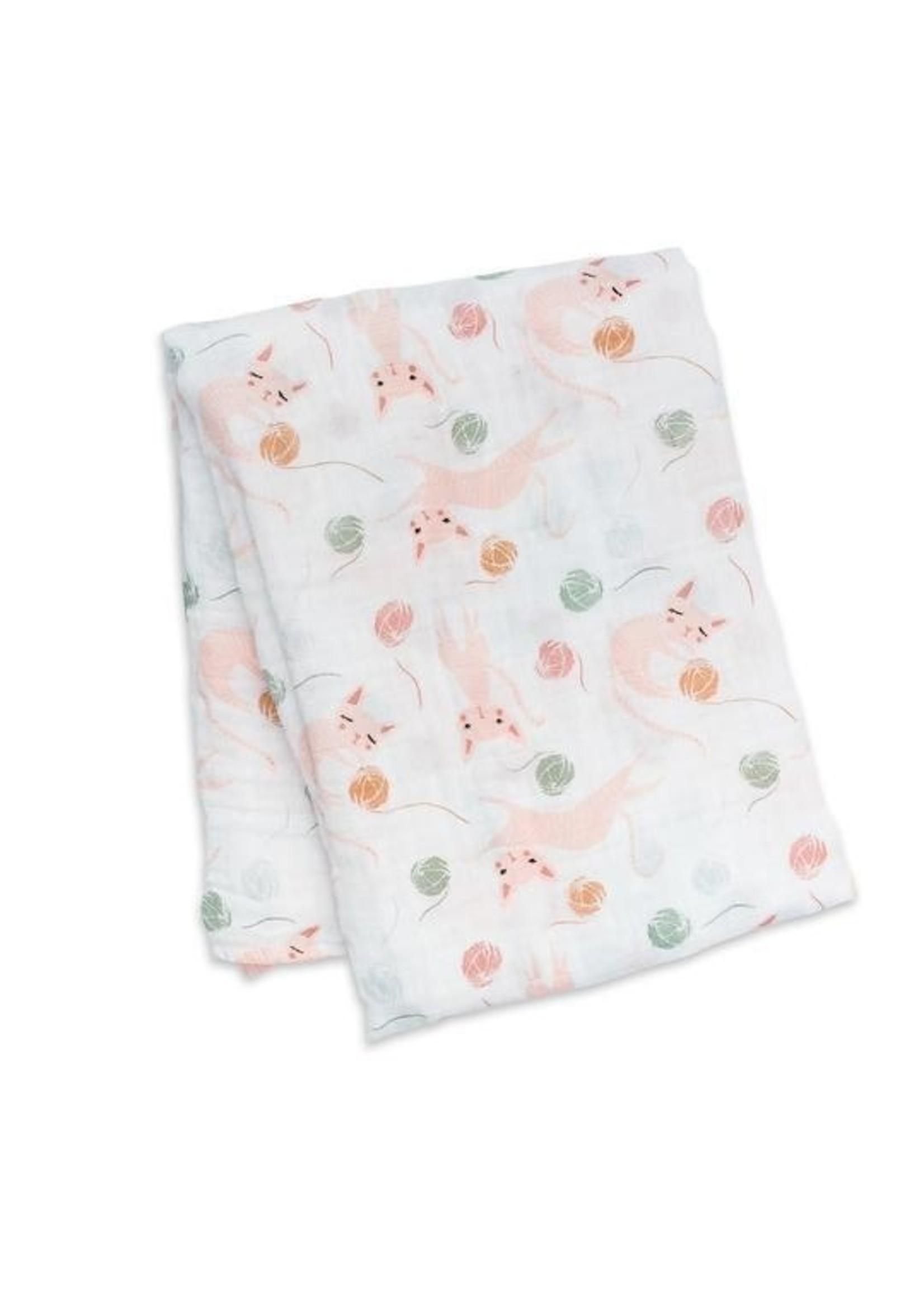 Lulujo Lulujo, Kitty Swaddling Blanket
