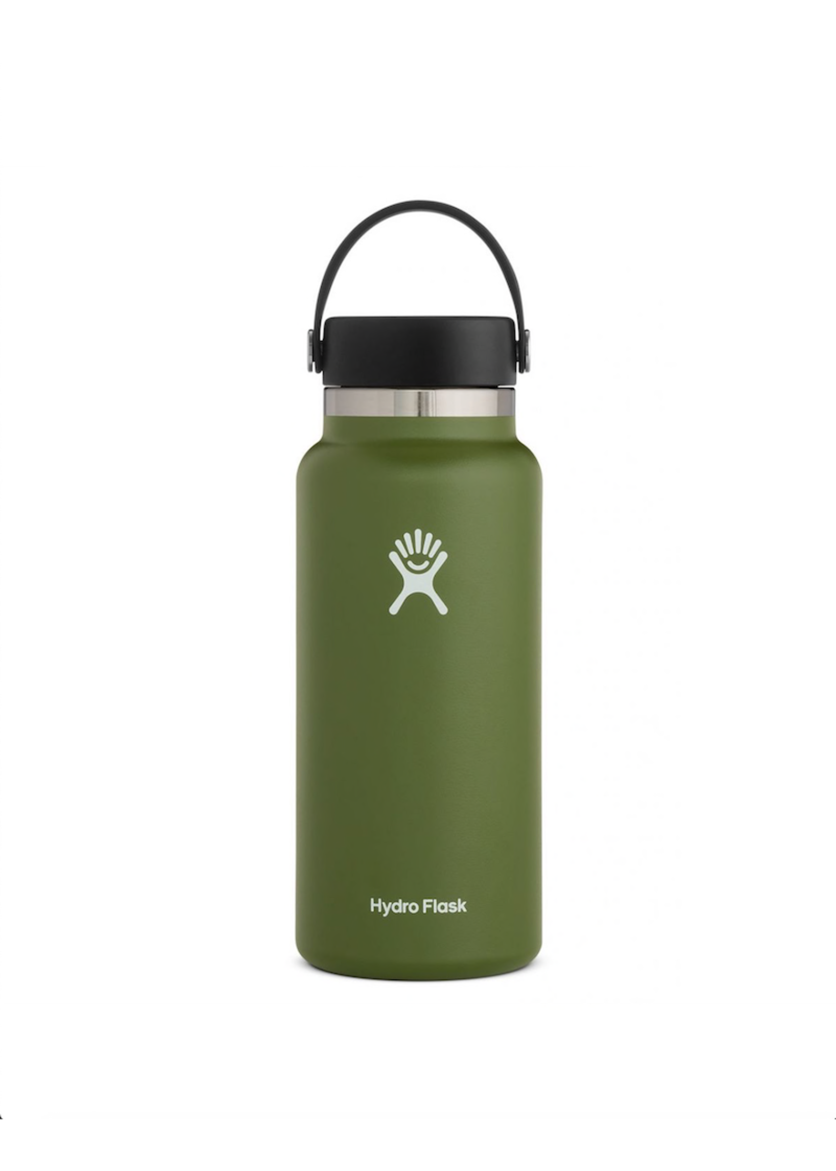 Hydro Flask Hydro Flask, 32 oz Wide Mouth 2.0  Flex Cap Insulated Stainless Steel Bottle in Olive