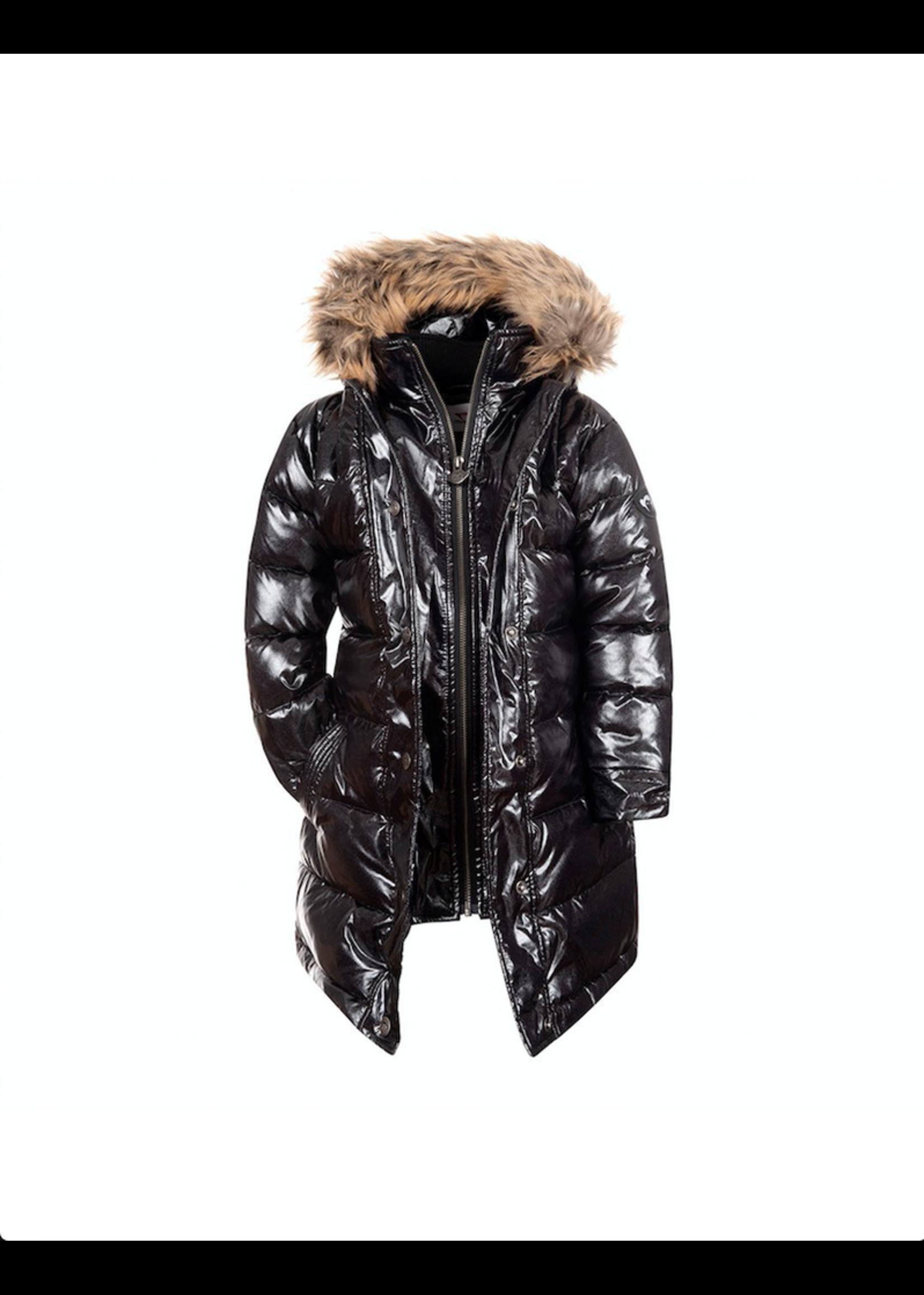 Appaman Appaman, Sparkle Black Long Down Coat