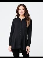 Ripe Maternity Ripe Maternity, Peplum Shirt, Black