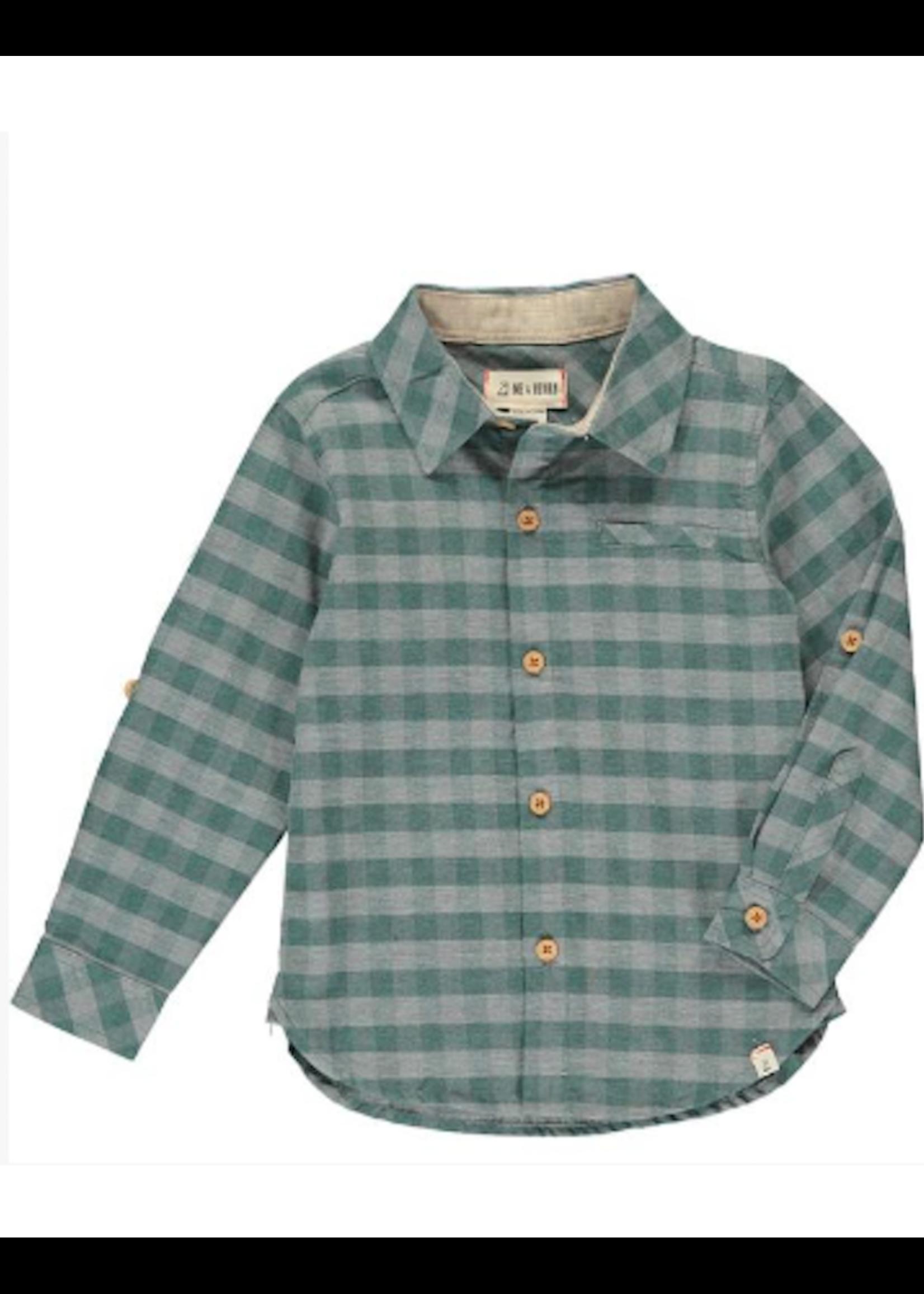Me & Henry Me & Henry, Green/Grey Plaid Shirt