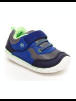 Striderite Stride Rite, Soft Motion Rhett Sneaker in Navy/Lime