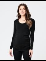 Ripe Maternity RIpe Maternity, Organic Nursing Top in Black
