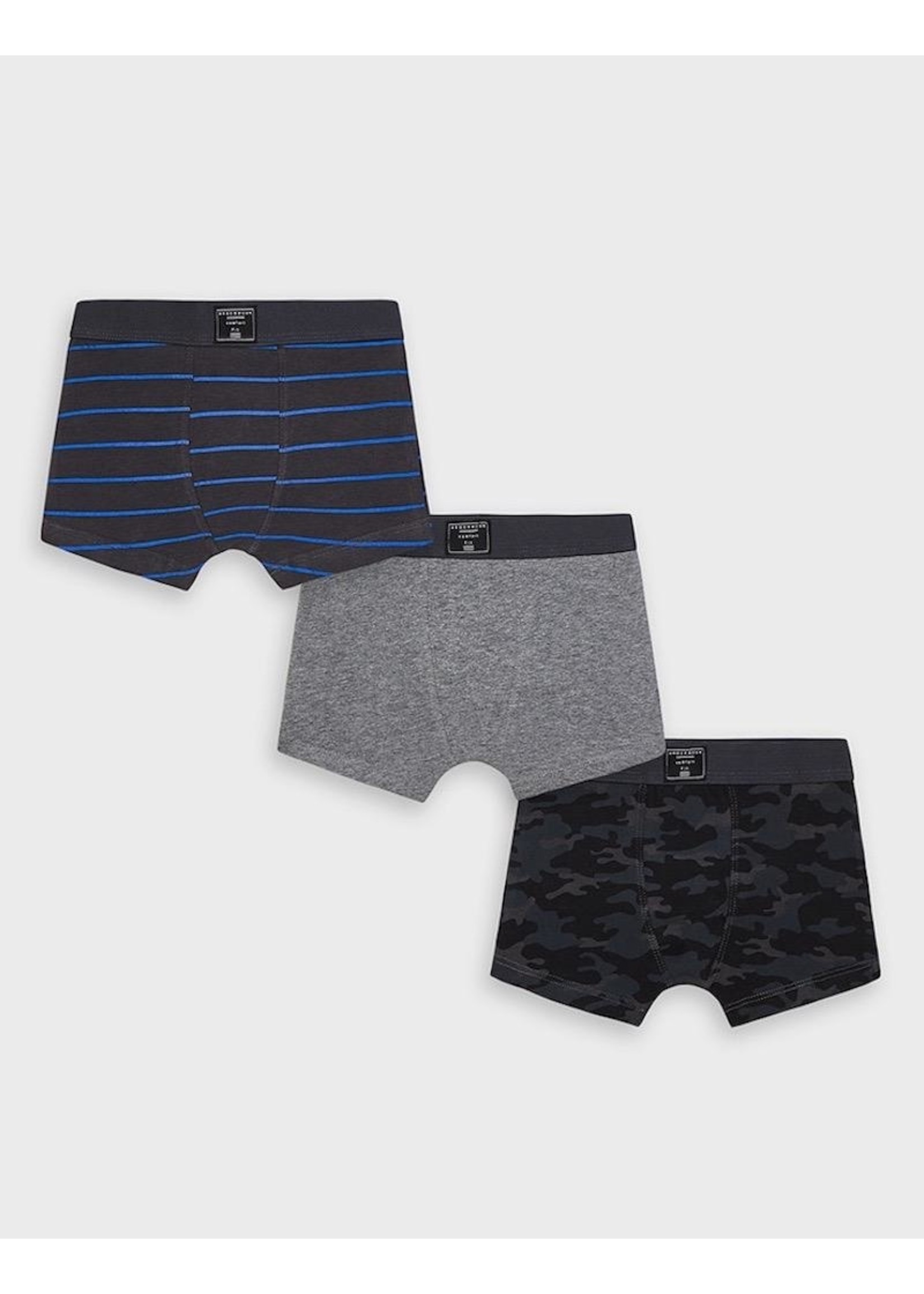 Mayoral Mayoral, 3 piece Boxers Set in Coal