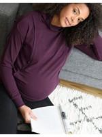 Seraphine Seraphine, Dina: Deep Plum Maternity & Nursing Sweatshirt