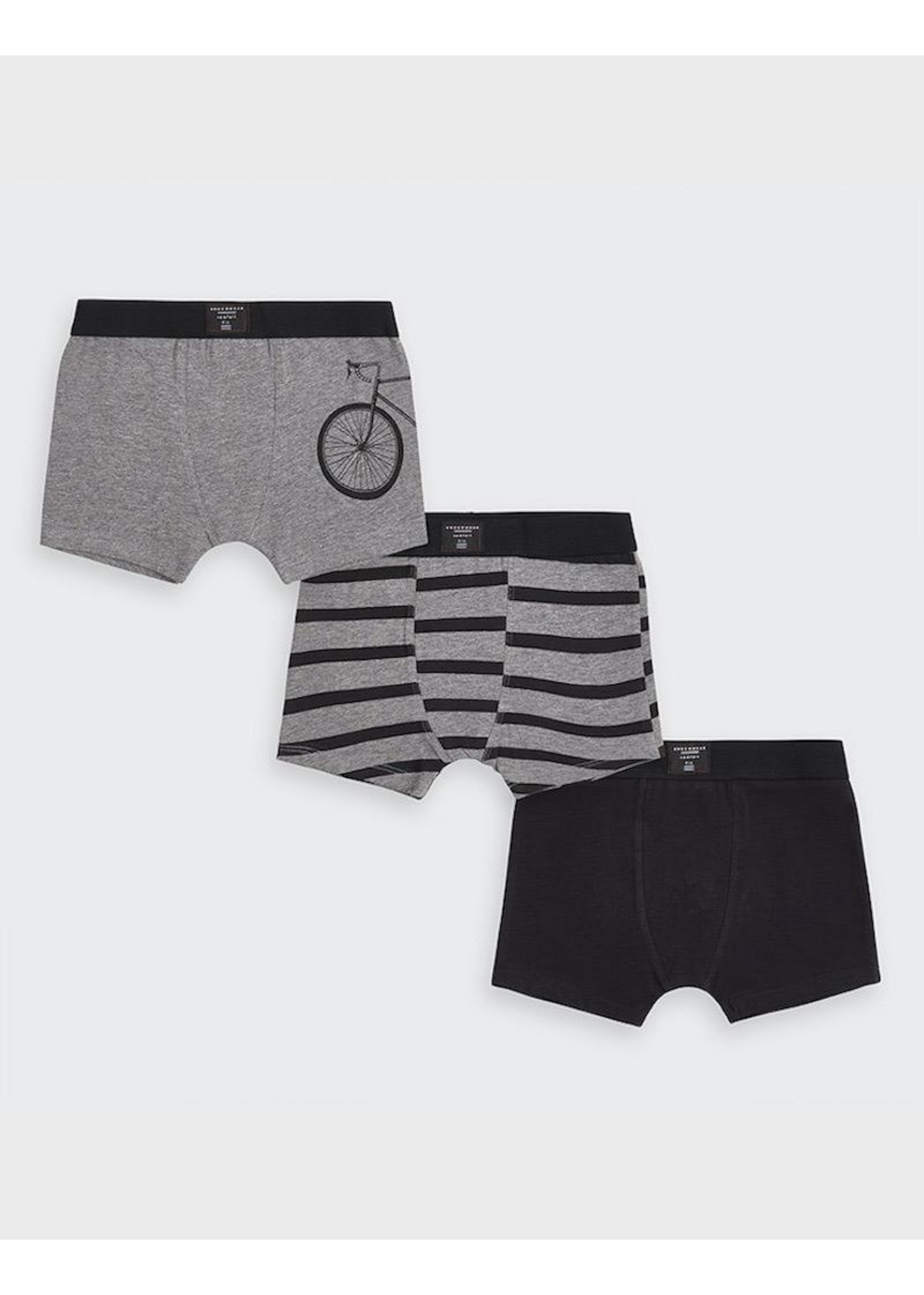 Mayoral Mayoral, Bicycle 3 piece Boxers Set in Coal