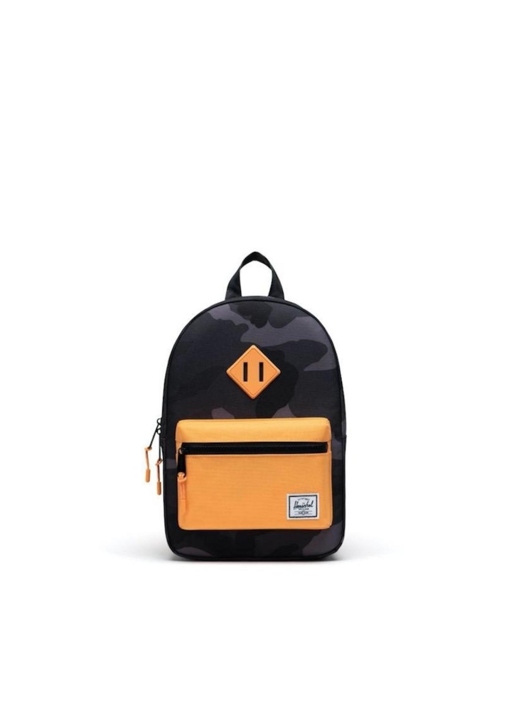 Herschel Supply Co. Herschel Supply, Heritage Backpack | Kids, Night Camo/Blazing Orange, 9L