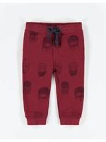 Souris Mini souris mini, Red Patterned Knit Cotton Pants