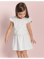 Miles Baby Miles Baby, Candy Sky Stripe Flutter Dress