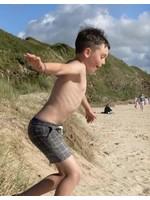 Me & Henry Me & Henry, Surf, Black Grid Swim Shorts
