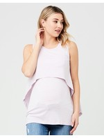 Ripe Maternity RIpe Maternity, Lilac & White Stripe Swing Back Maternity & Nursing Tank