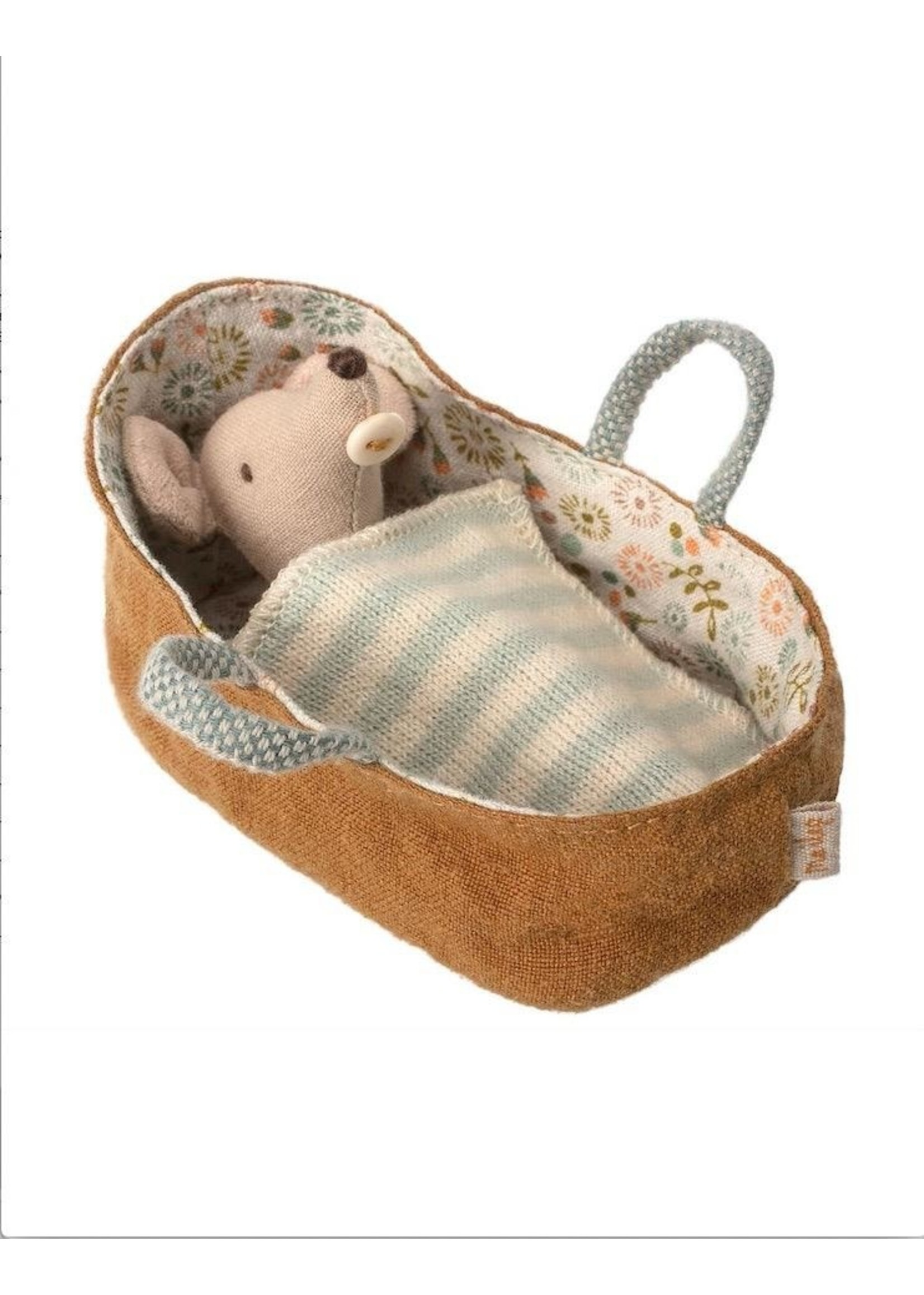 Maileg Maileg, Baby mouse in carrycot