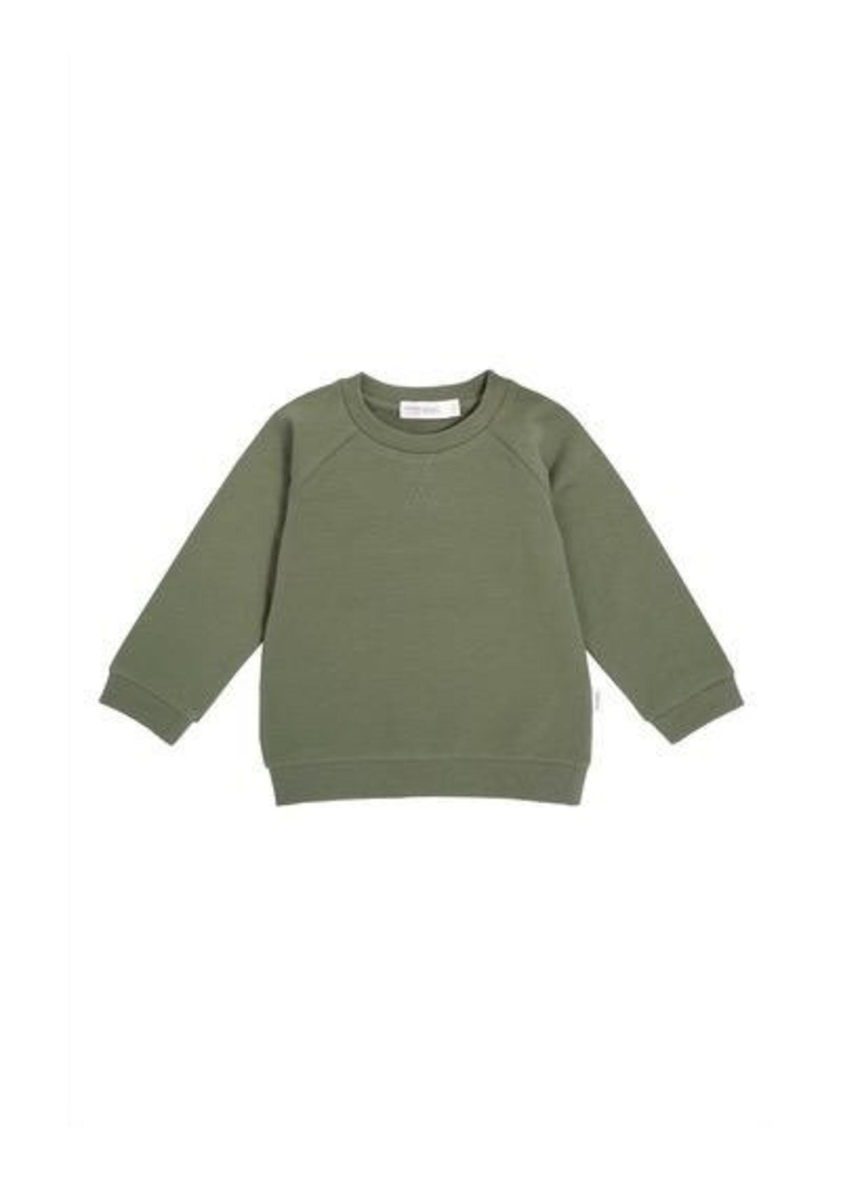 Miles Baby Miles Baby,  Khaki Baby Knit Sweatshirt