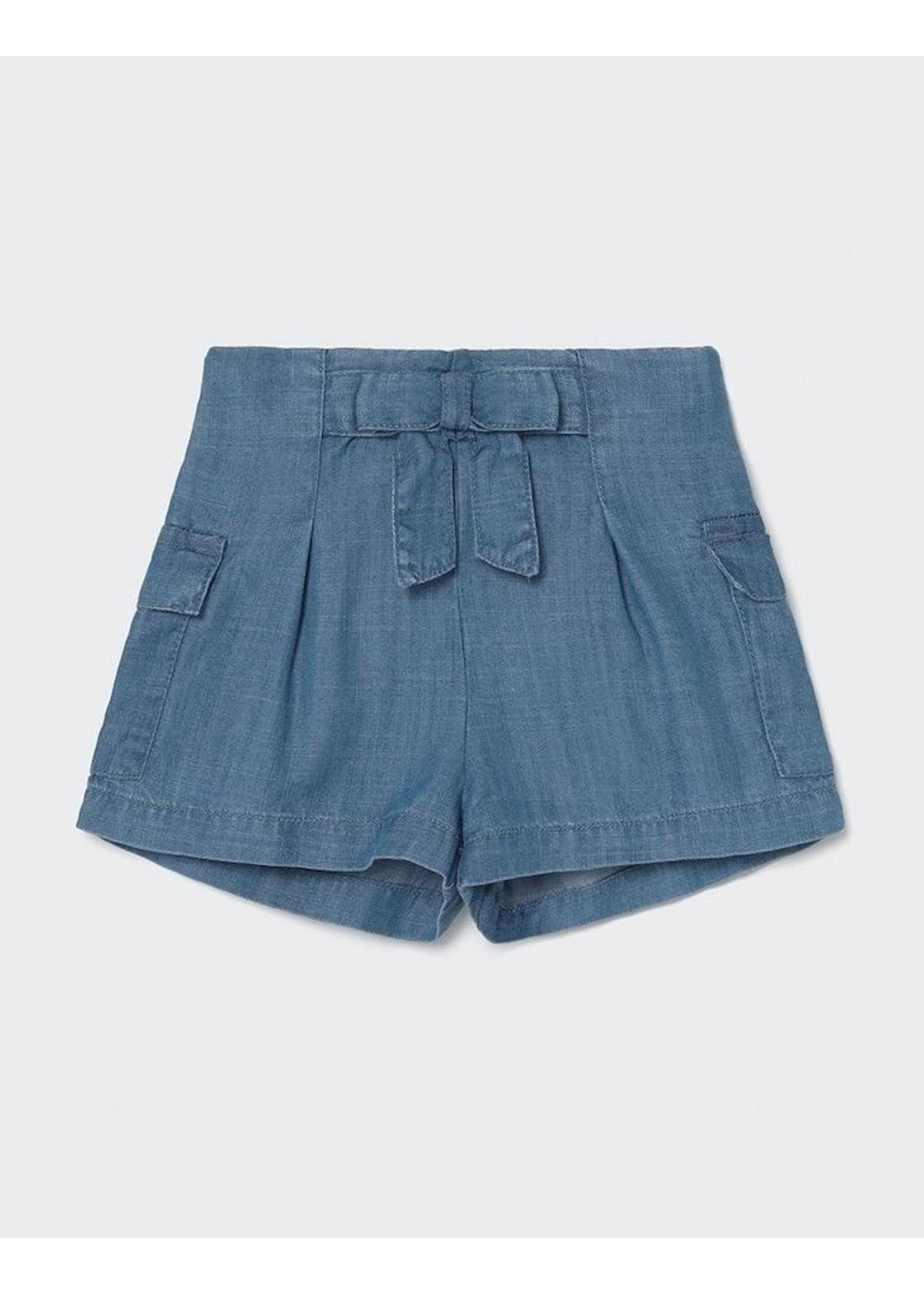 Mayoral Mayoral, Ecofriends Loose Denim Baby Shorts