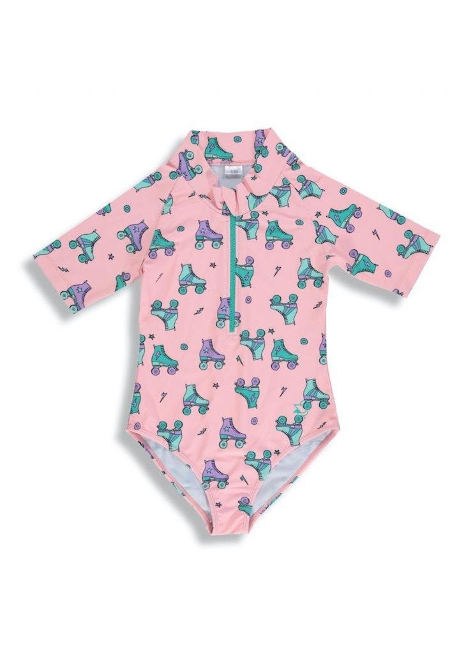 Birdz Children Birdz Children, Tropical Peach Roller Blades Girlz |Surfer Swimsuit|