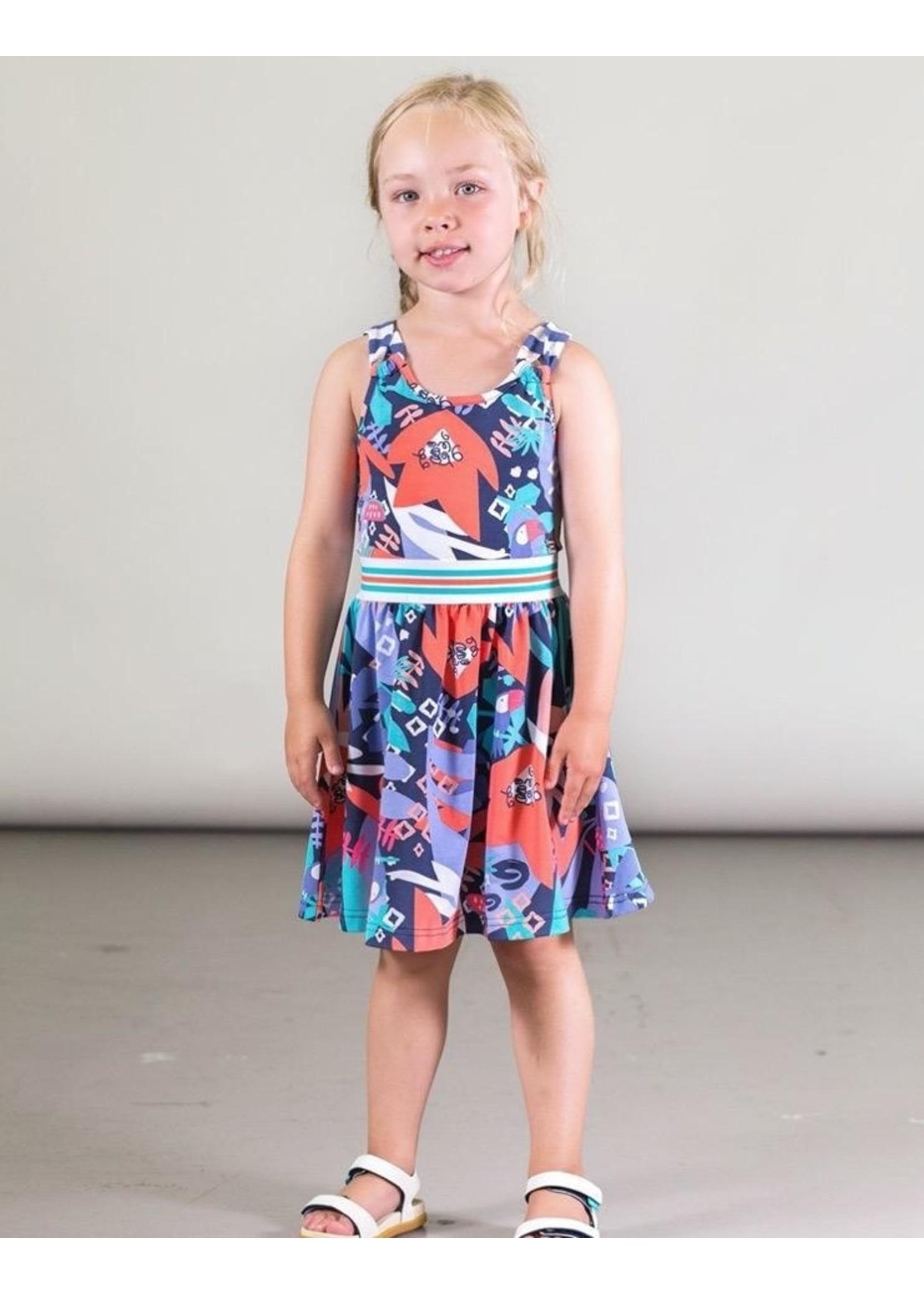 Deux Par Deux Deux Par Deux, Organic Cotton Toucan Printed Dress
