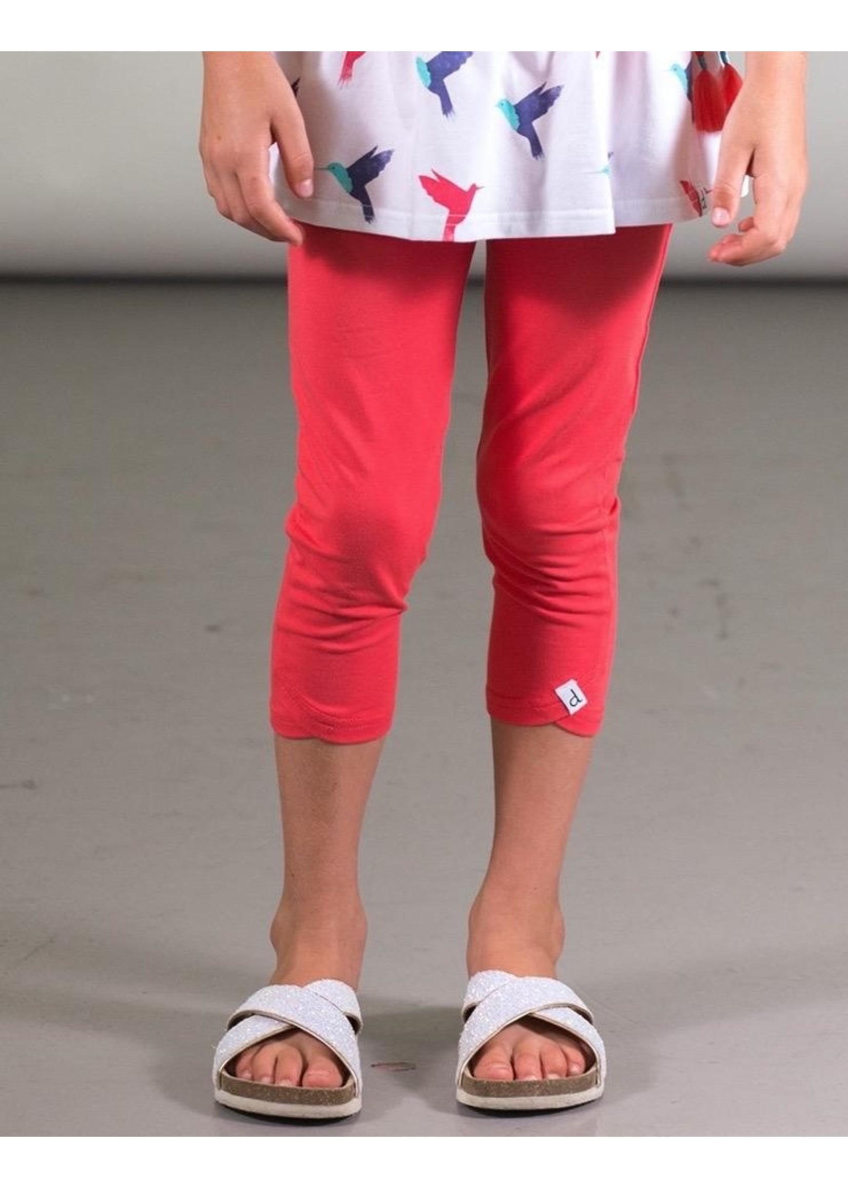 Deux Par Deux Deux Par Deux, Organic Cotton Capri Legging in Red