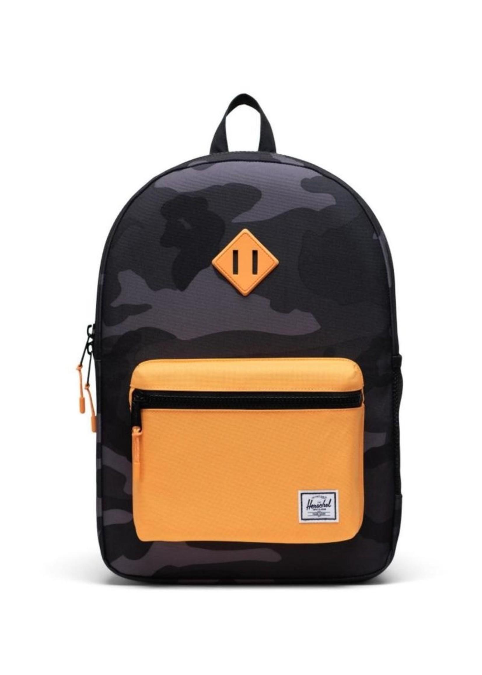 Herschel Supply Co. Herschel Supply, Heritage Backpack   Youth XL, Night Camo/Blazing Orange, 22L