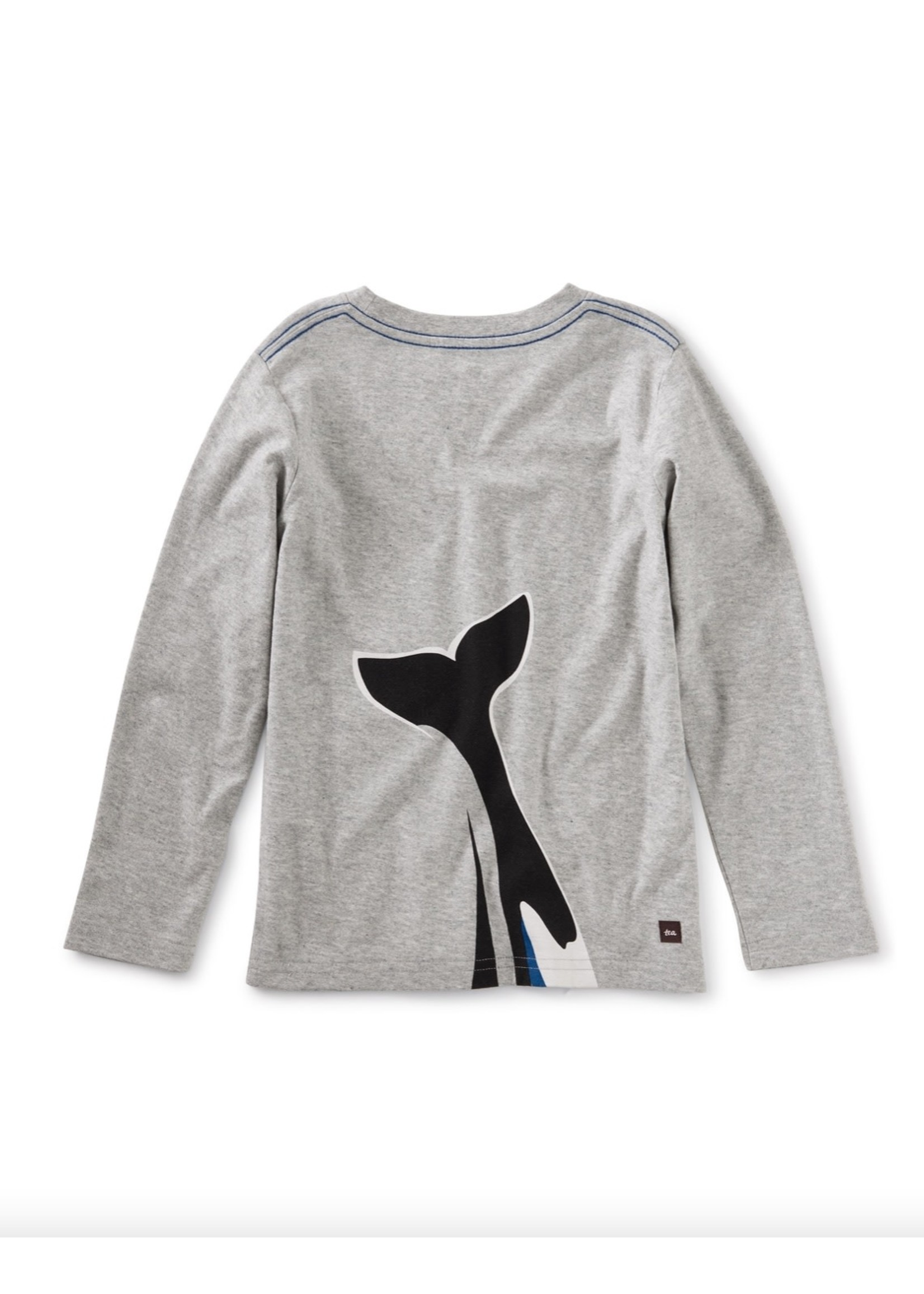 Tea Collection Tails of the Sea Graphic Tee in Med Heather Grey