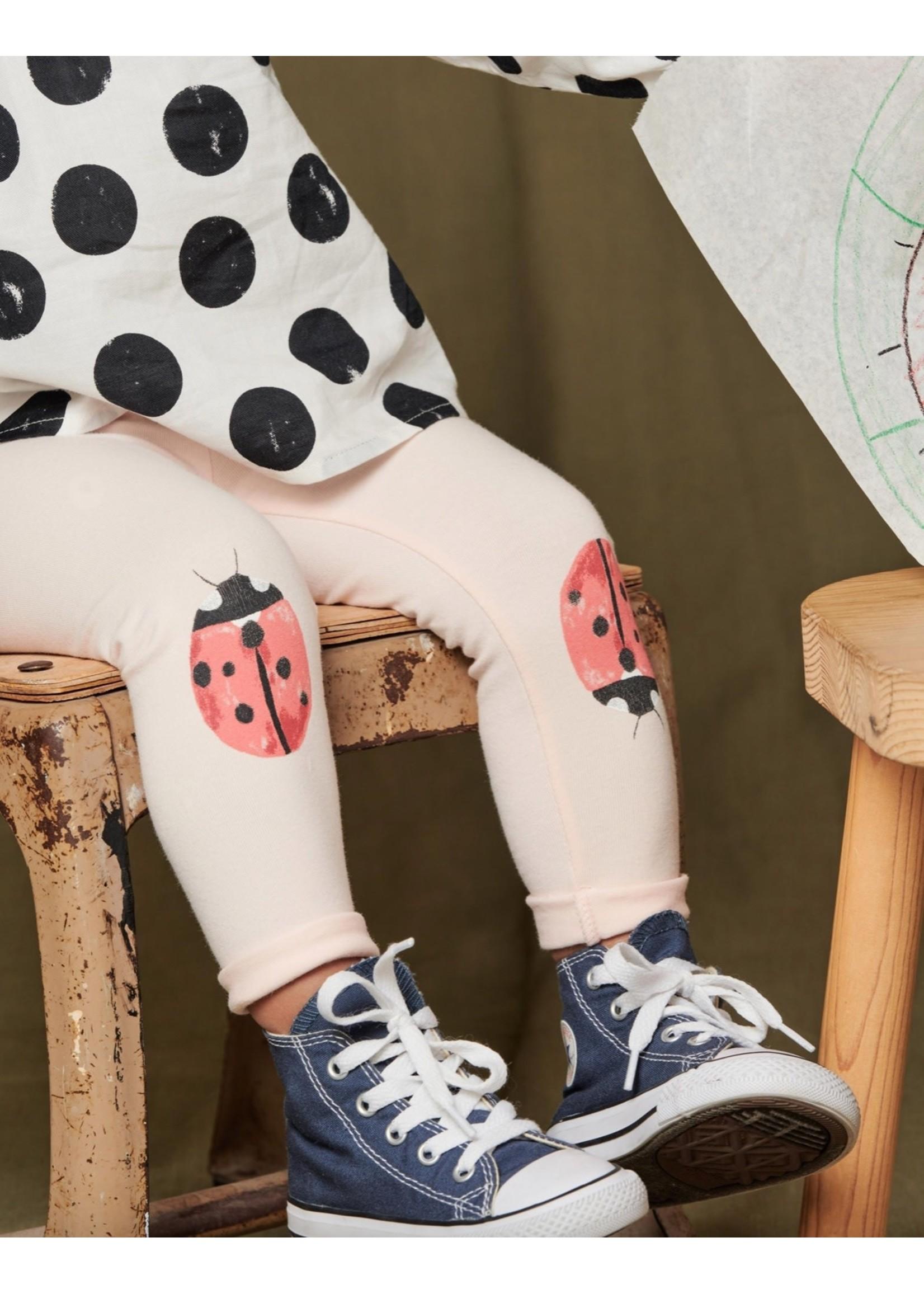 Tea Collection Li'l Ladybugs Baby Leggings in Pink Salt