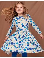 Tea Collection Ruffle Collar Ballet Dress in Swedish Bilberries