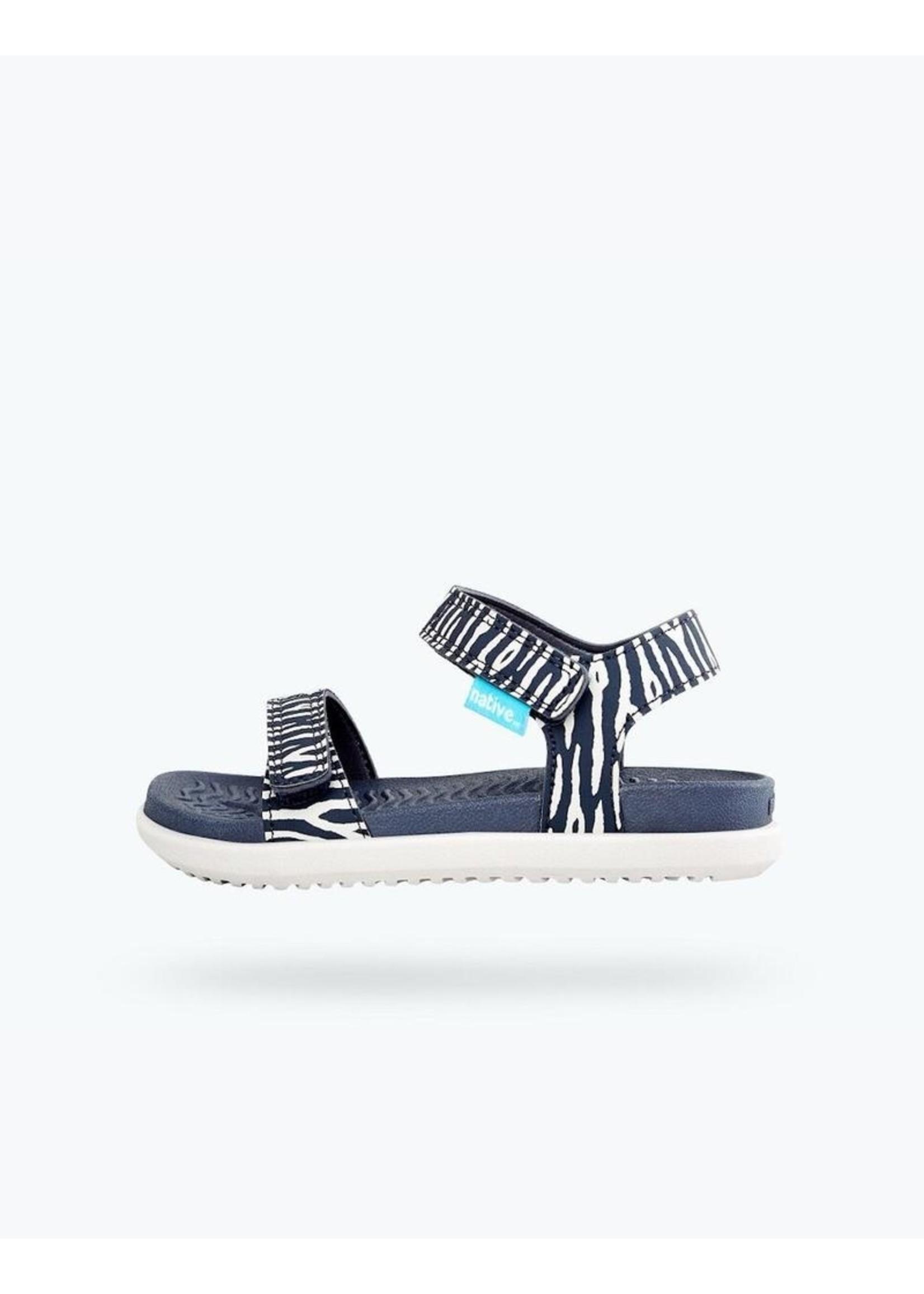 Native Shoes Native Shoes, Charley Print Child in Darknite Grey/ Zinc Grey/ Zebra Cuddlefish