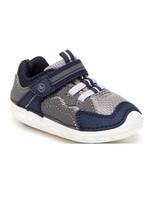 Striderite Stride Rite, Navy & Grey Soft Motion Kylo Sneaker